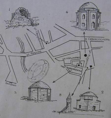 Азиз, схема из книги Е.В. Крикуна «Архитектурные памятники Крыма»