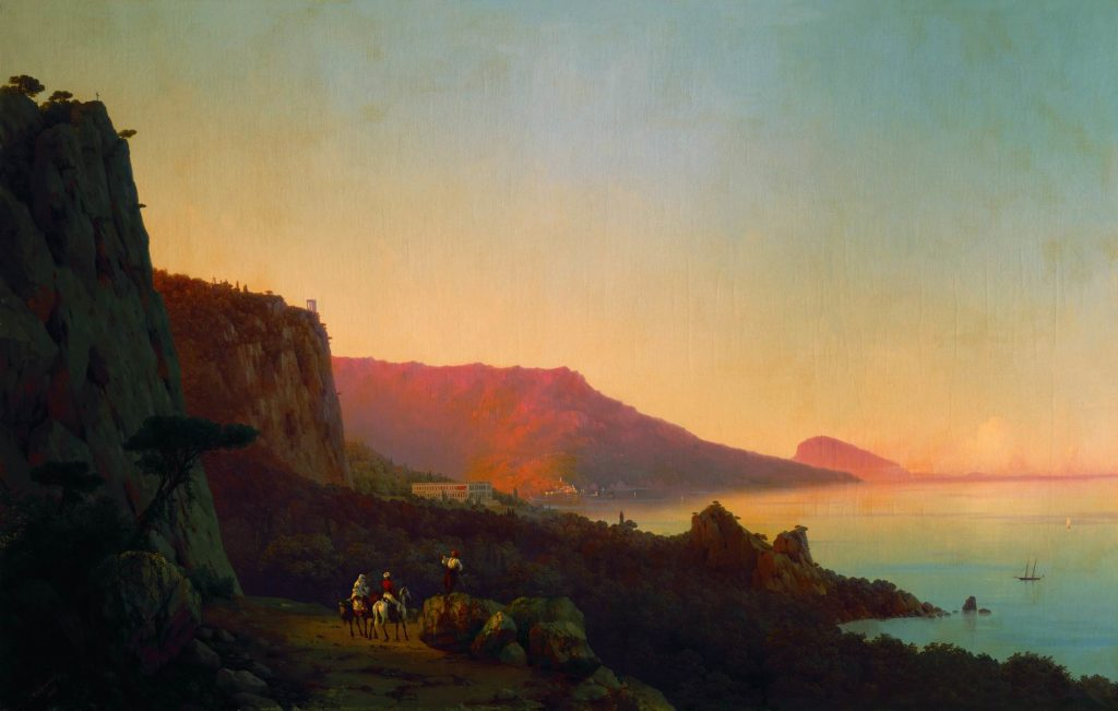 И.К. Айвазовский. Вечер в Крыму. Ялта (1848)