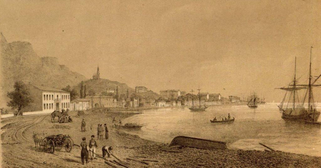 Виды города Ялта, разграбленного англо-французами.