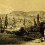 Вид города Бахчисарай в Крыму.