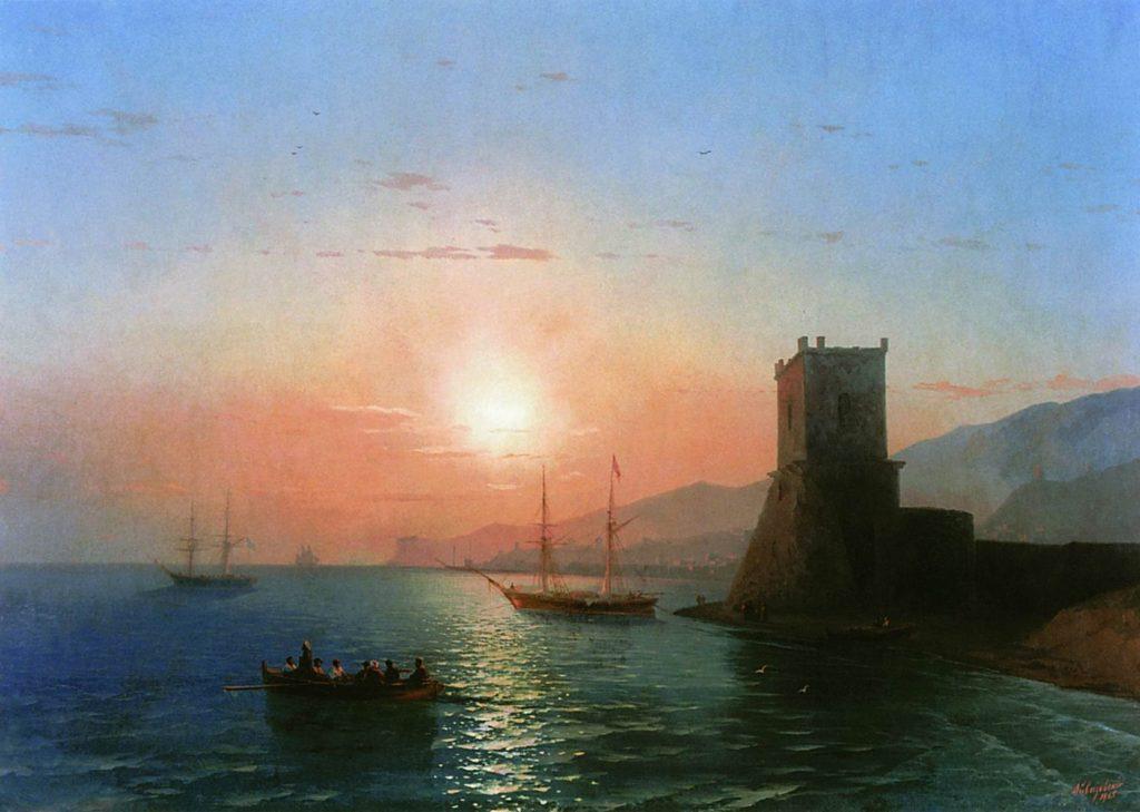 И.К. Айвазовский. Феодосия. Закат солнца (1856).