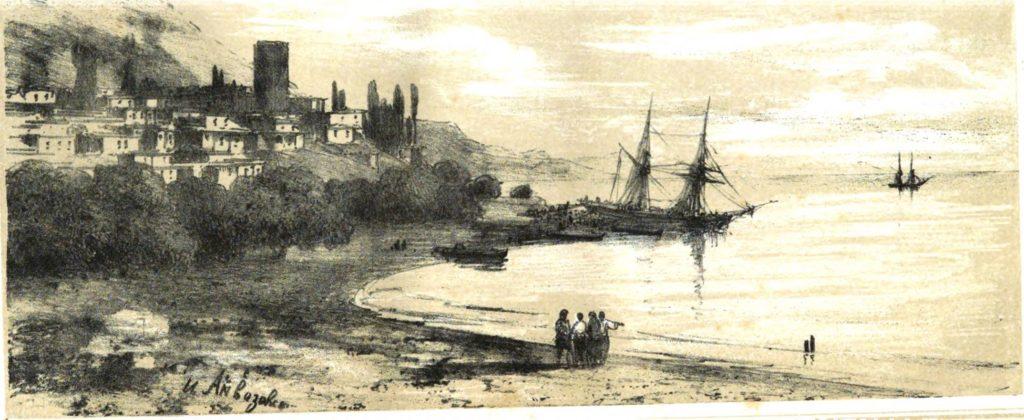 И.К. Айвазовский. Алушта (1859).