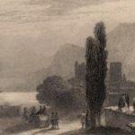 Посещение императрицей Марией Александровной селения Алушта. Гравюра К. Моттрама с рисунка И.К. Айвазовского (1861).