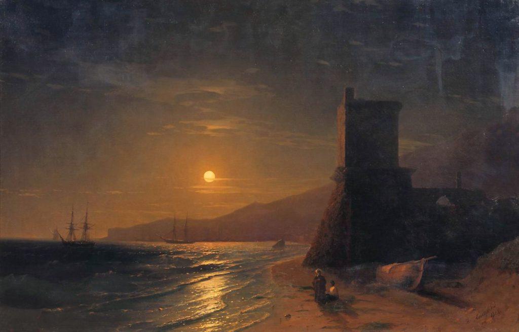 И.К. Айвазовский. Лунная ночь (Феодосия) (1862).