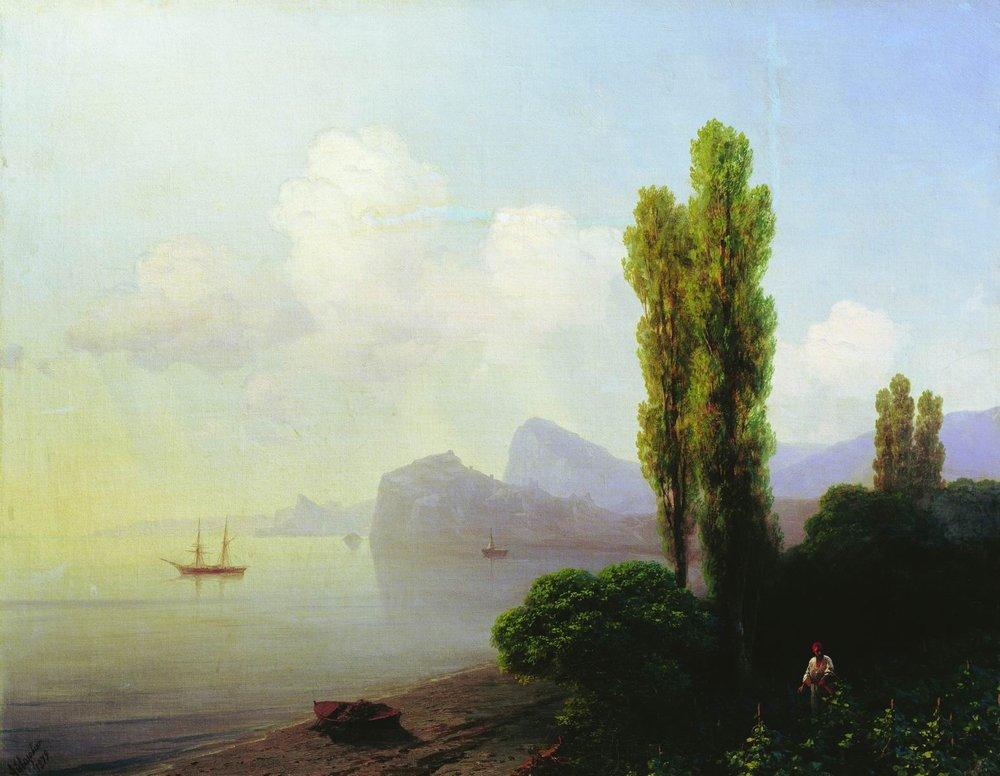 И.К. Айвазовский. Вид Судакской бухты (1879).