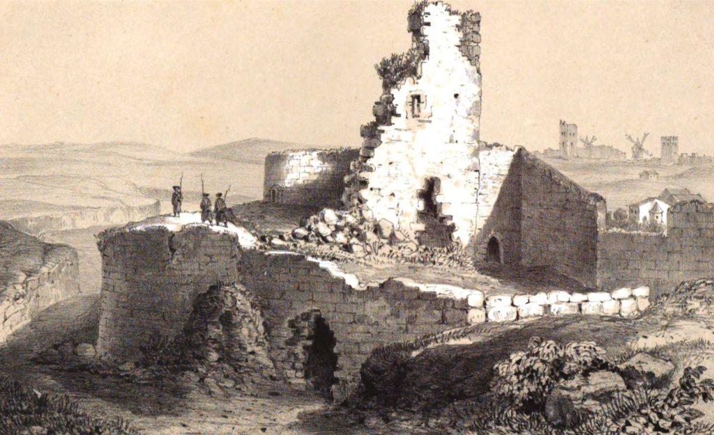 Руссен В.О. Башня крепостной стены Кафы с юга.