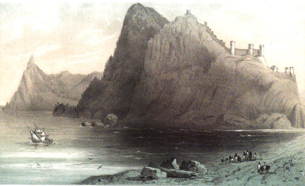 Руссен В.О. Вид на Судакскую крепость с моря.