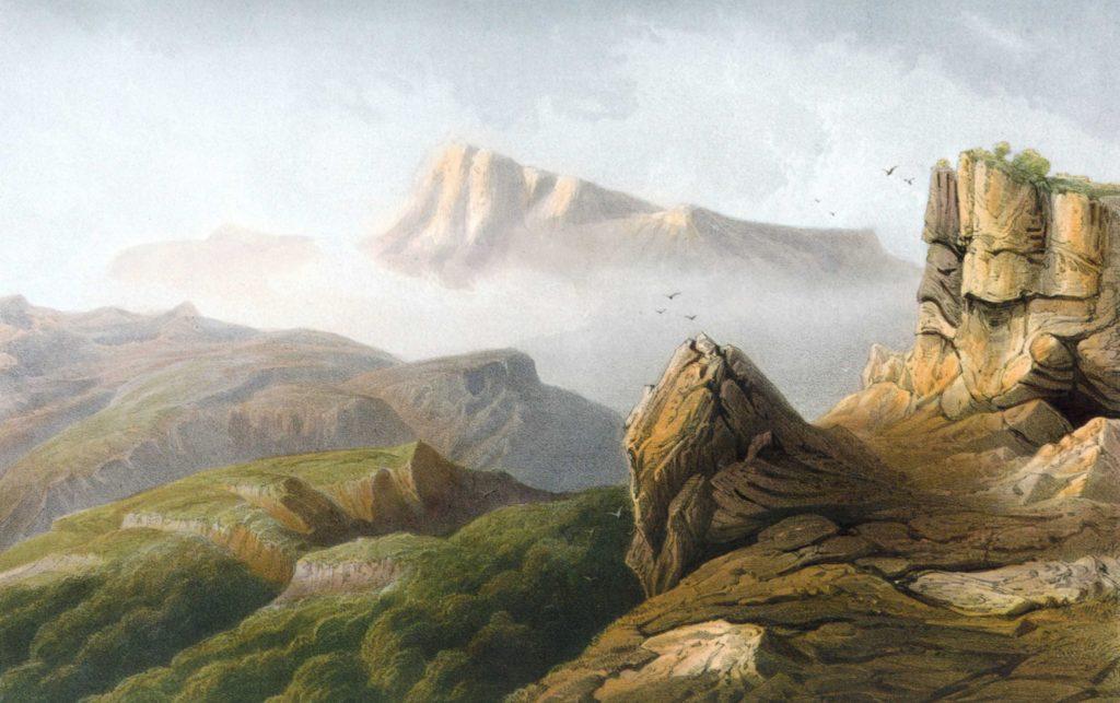 Карло Боссоли. Гора Чатыр-Даг.