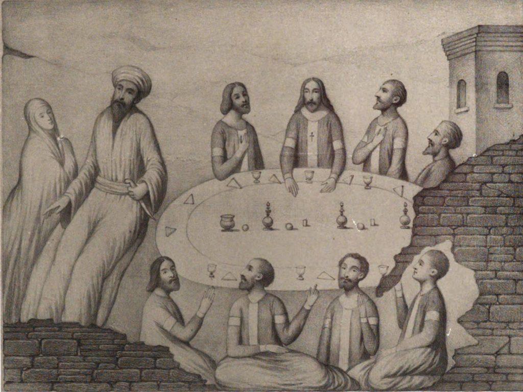 Руссен В.О. Фреска в греческой церкви в Судаке (Храм 12 апостолов).