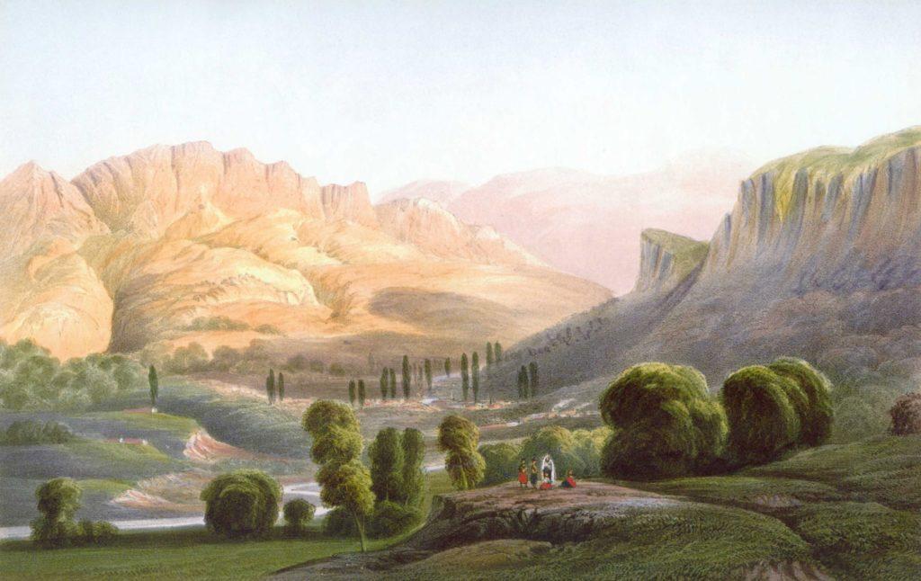 Карло Боссоли. Долина реки Коккозка.