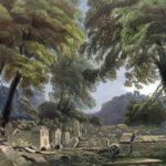 Карло Боссоли. Караимское кладбище близ Чуфут-Кале.