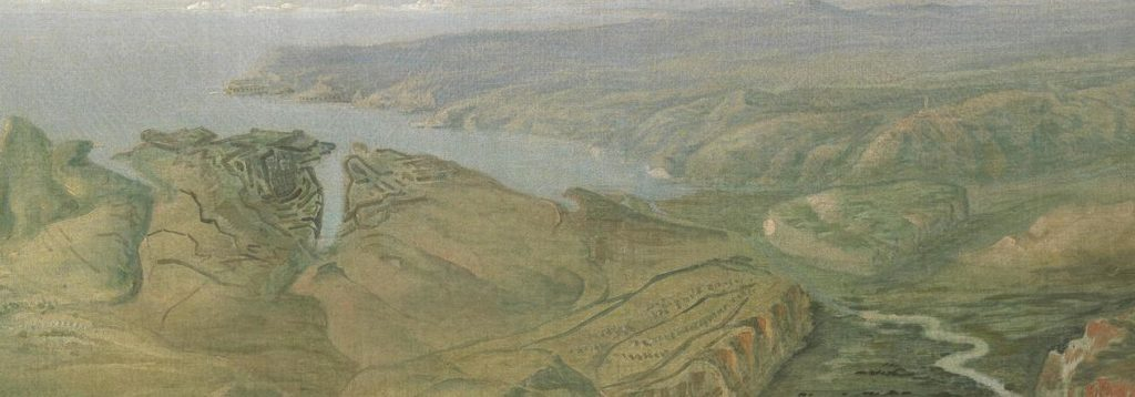 A Panoramic view of the entrenchment of Allied Armies of England and France before Sebastopol.