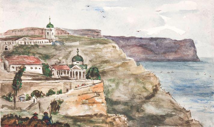 А.У. Адейр. Георгиевский монастырь (1855).
