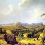 Чернецов Н.Г. Вид Каралезской долины (1836). Холст, масло.