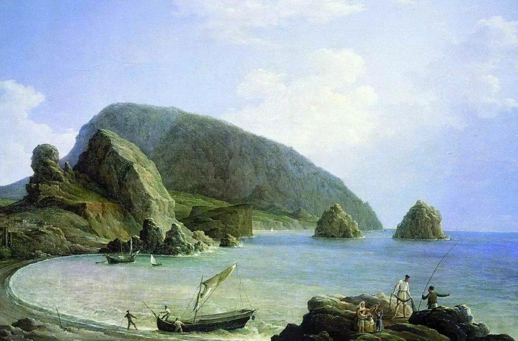 Чернецов Н.Г. Вид на Аю-Даг в Крыму со стороны моря.