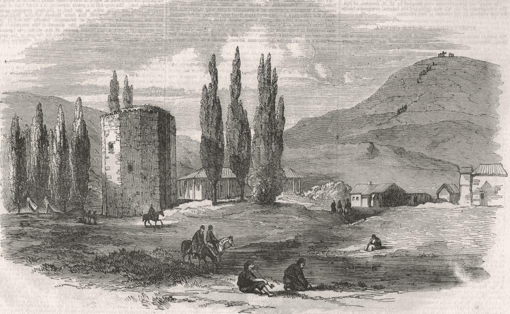 Чоргунь на реке Черной (1856). Неизвестный автор.
