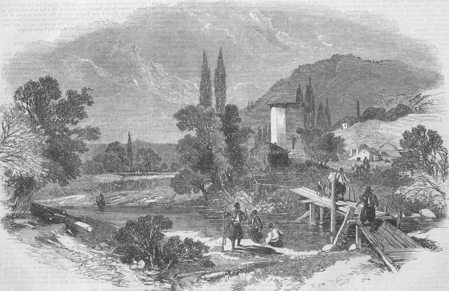 Чоргунь на реке Черной около Сардинского лагеря (1855).