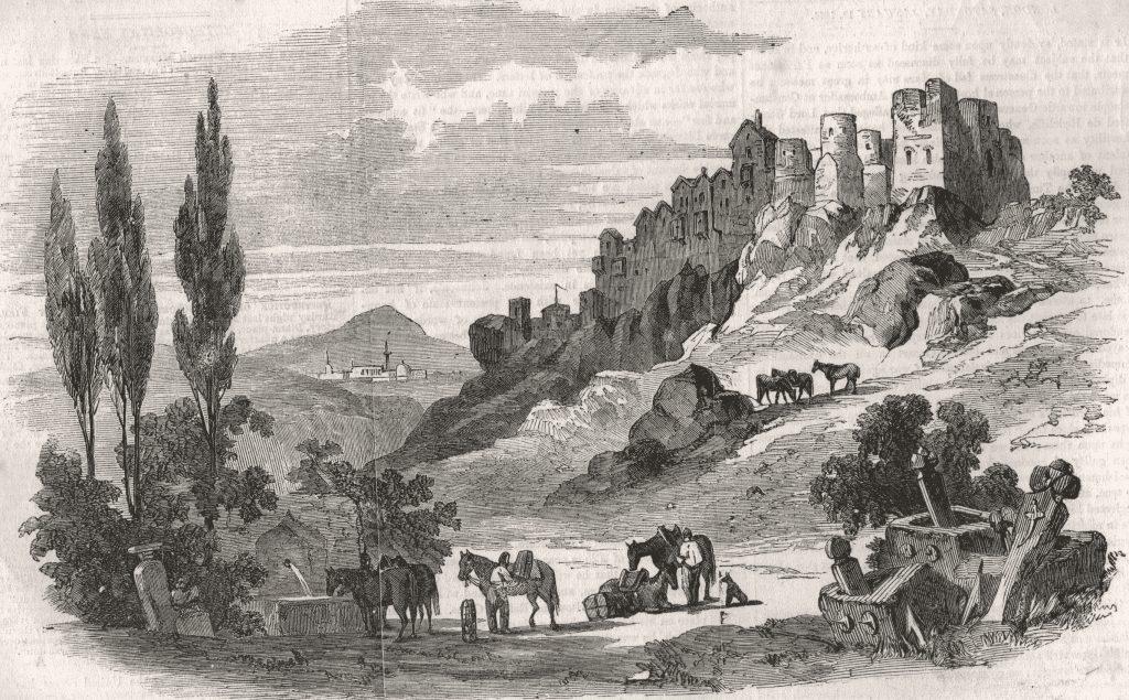 Вилибальд Рихтер. Чуфут-Кале (1856).