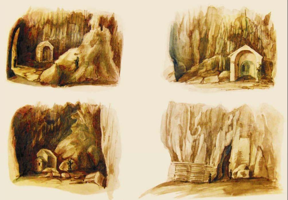 Д.М. Струков. Храм в пещере Иограф.