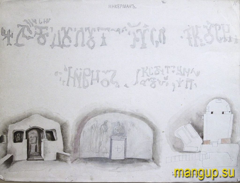 Д.М. Струков. Инкерман. Храм св. Евграфа (1867).