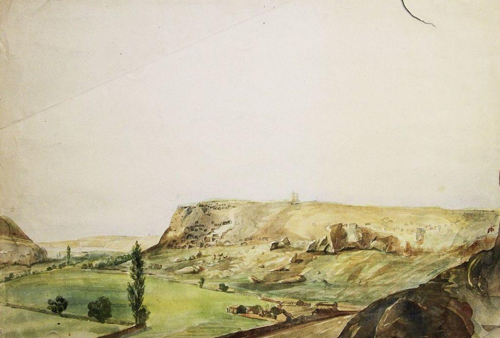 Д.М. Струков. Инкерманская долина и монастырская скала (1867).