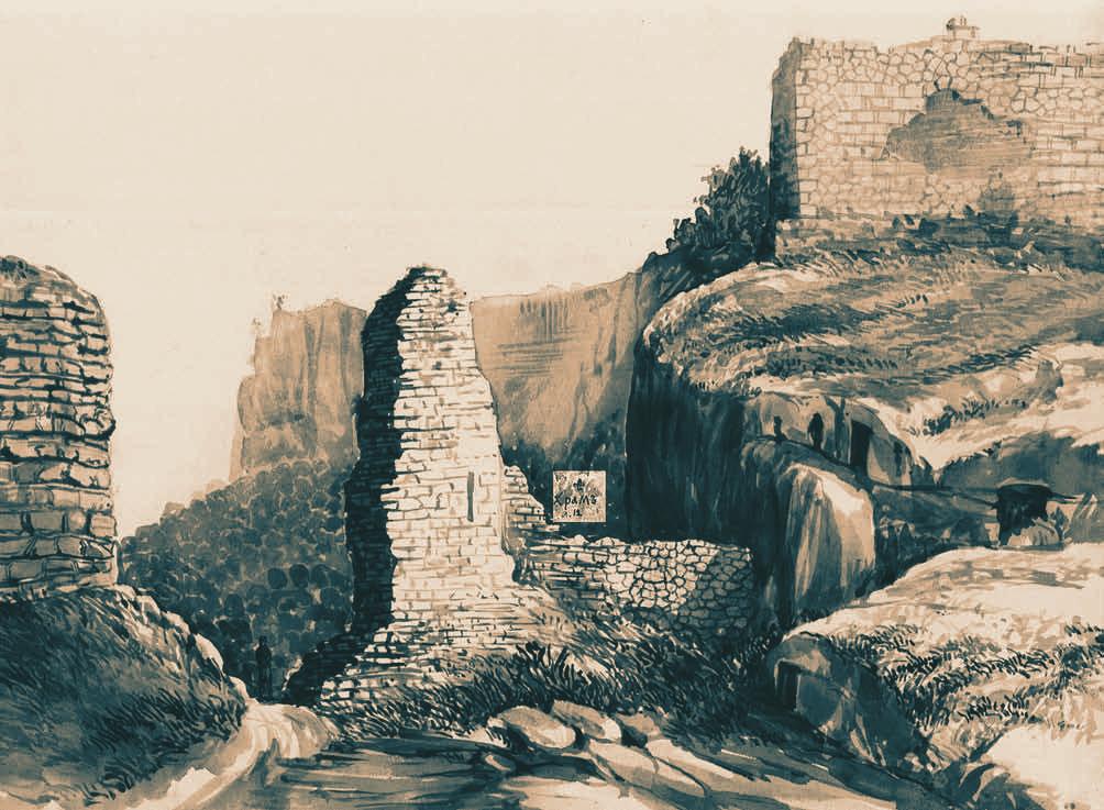 Д.М. Струков. Мангуп. Вид на Главные ворота в Капу-дере (1886 г.)