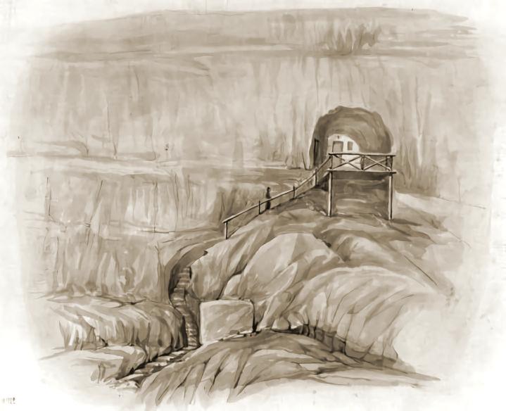 Д.М. Струков. Инкерман. Общий вид храма св. Евграфа (1897).