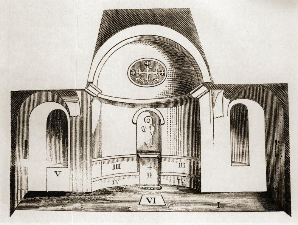 Д.М. Струков. Инкерман. Устройство храма св. Климента (бывшей базилики св. Георгия) (1876).