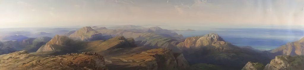 Карло Боссоли. Панорама Крыма с горы Чатыр-Даг.