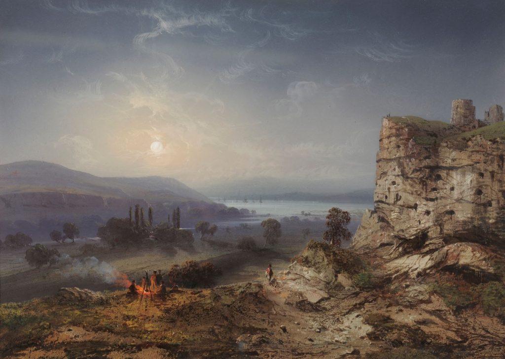 Карло Боссоли. Вид на Инкерманскую долину.