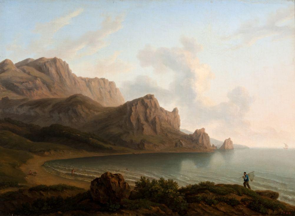 Мивилль Ж. Берег с каменистой горой (гора Кошка).