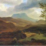 Мивилль Ж. Вид на гору Чатырдаг и реку Альма.