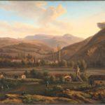 Мивилль Ж. Вид на татарскую деревню и мечеть на берегах Альмы.