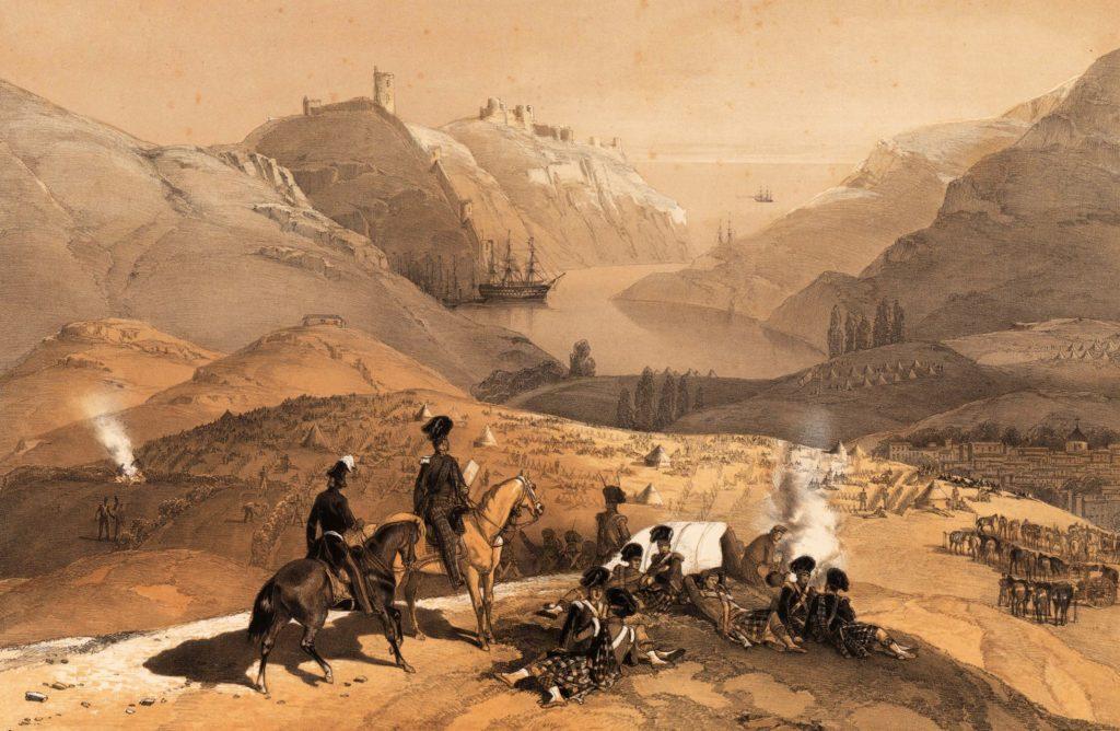 Город и гавань Балаклава (1854).