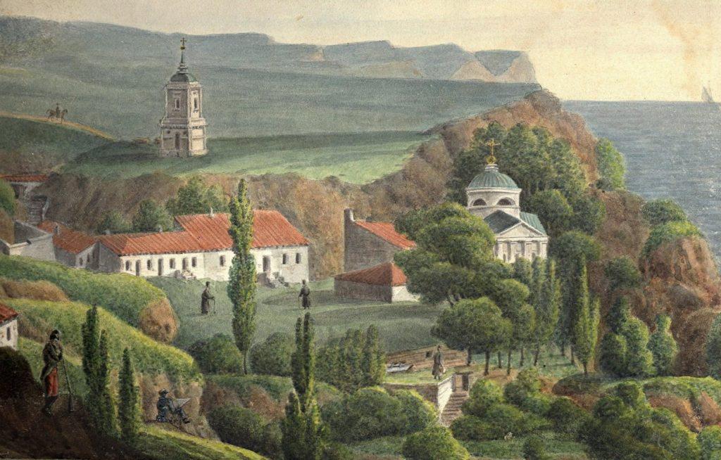 П.П. Свиньин (?) Георгиевский монастырь.
