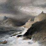 У. Симпсон. Шторм при входе в Балаклавскую бухту 14 ноября 1854 года.