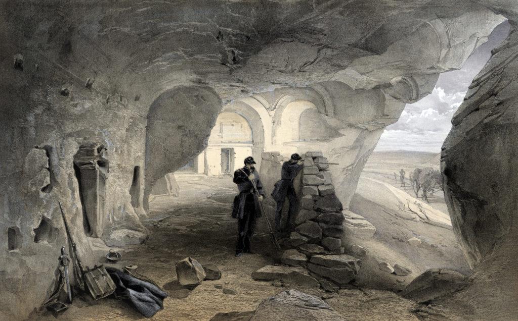 У. Симпсон. Снайперы, ведущие огонь в пещерной церкви близ Инкермана.