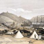 У. Симпсон. Вид на Балаклавскую бухту по направлению к морю осенью 1854 года.