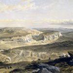 У. Симпсон. Вид на холмы и руины Инкермана, а также пещерный город.