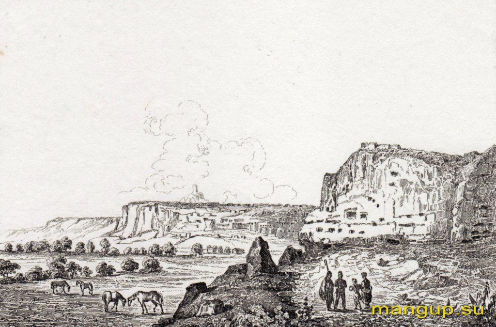 Вид на пещерные монастыри Инкермана.