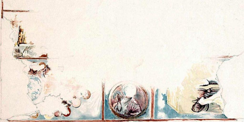 Вебель М.Б. Фрагменты росписи свода пещерного храма в Георгиевской балке.