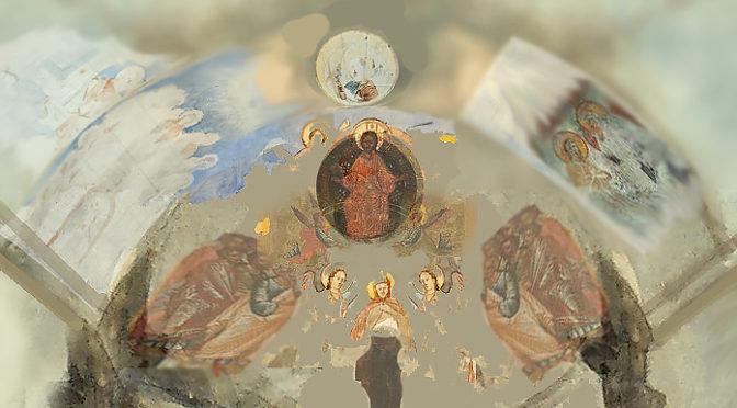 Фрески пещерного храма в Георгиевской балке.