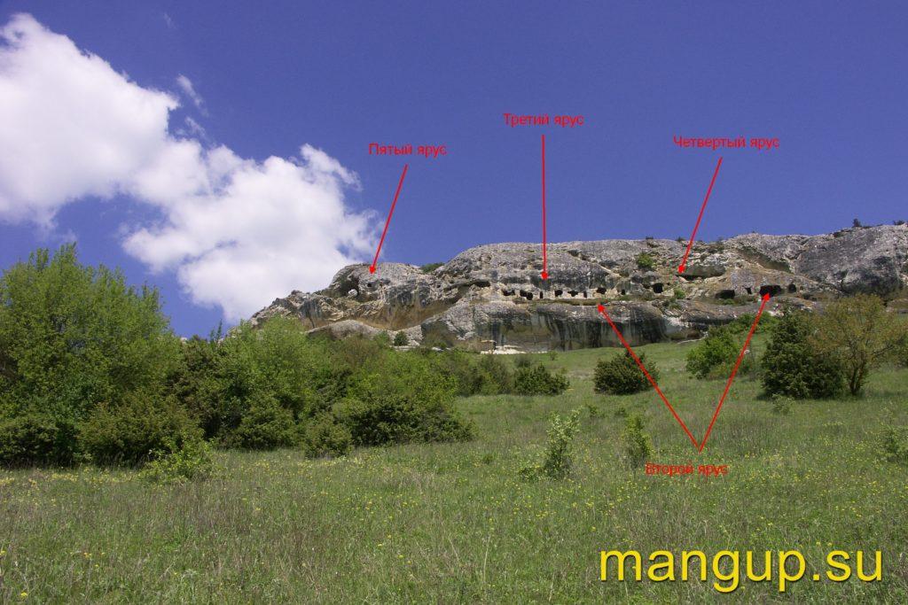 Пещерный монастырь Челтер-Мармара. Общий вид.