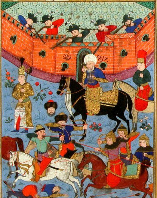 Осада татарами Кафы в 1584 году.