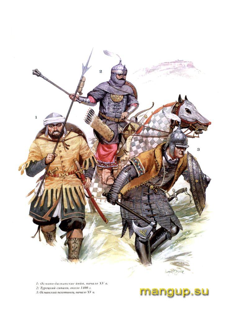 Оманские пехотинцы и конный сипах.