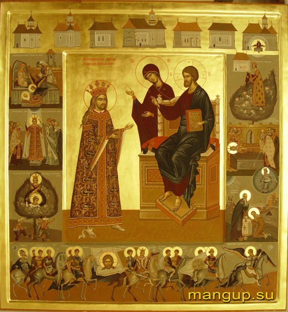 Святой Стефан Великий с житием.