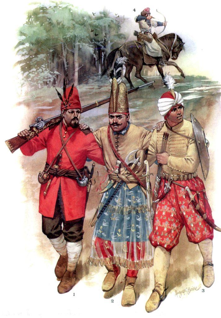 Турецкие и татарский воины первой половины – середины XVII в.