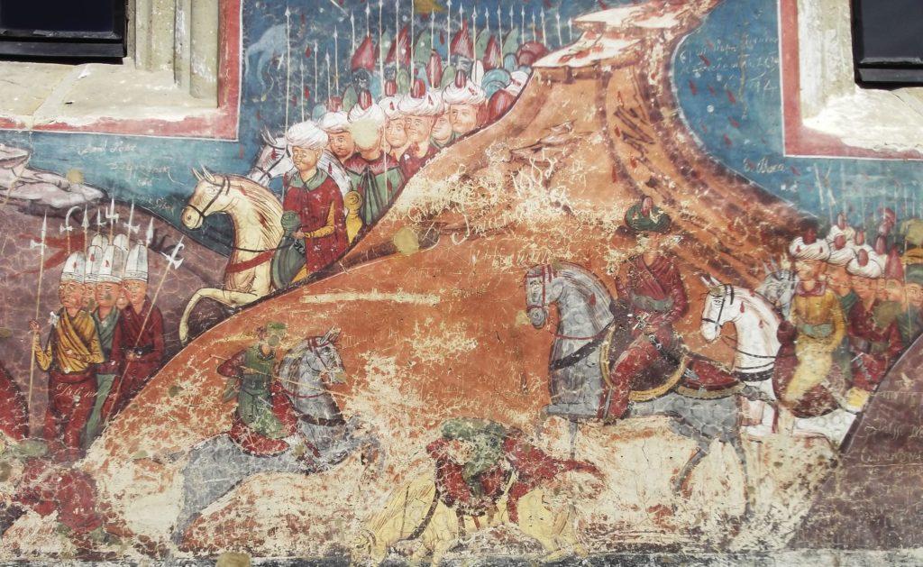 Турецкие войска осаждают Константинополь.