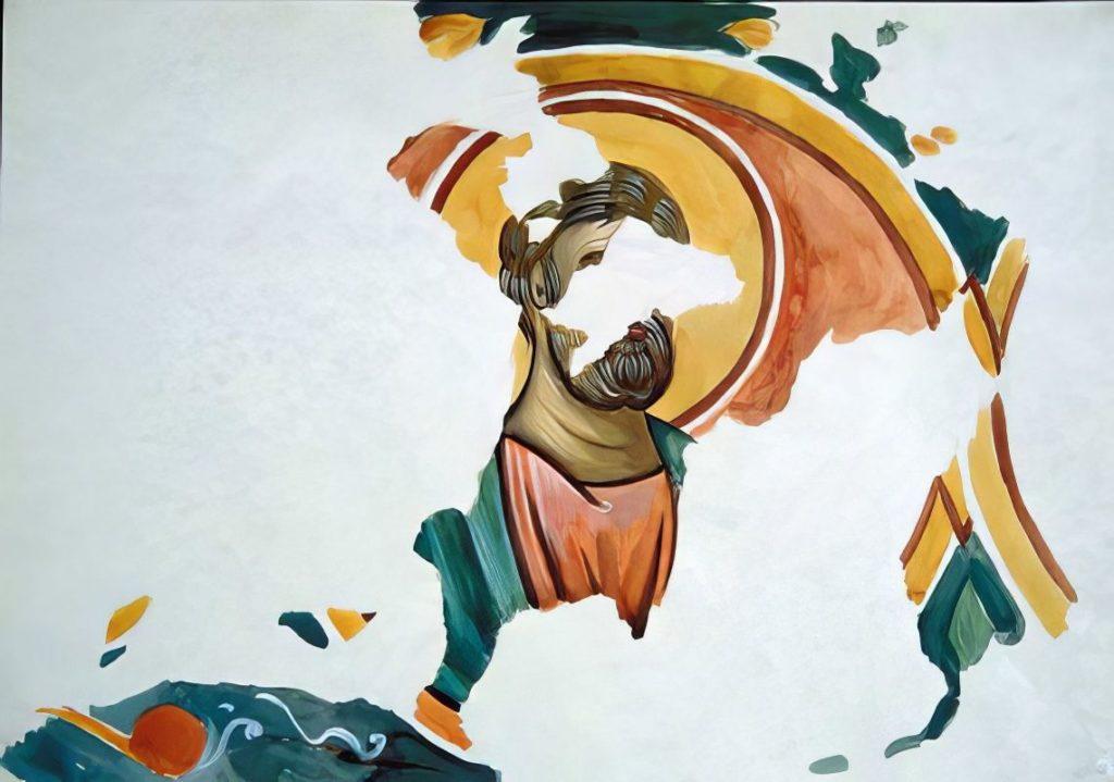 Черкес-Кермен. Храм «Донаторов». Апостол Петр по И.Г. Волконской.