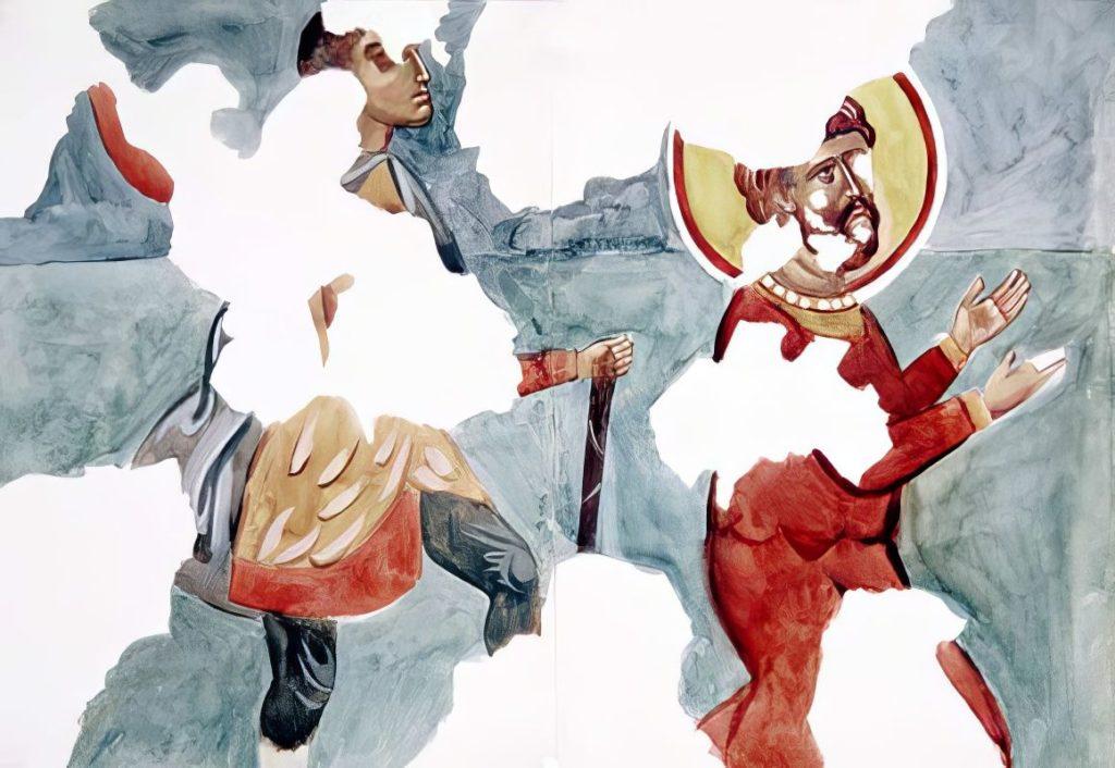 Черкес-Кермен. Храм «Донаторов». Казнь святого Феодора Стратилата по И.Г. Волконской.